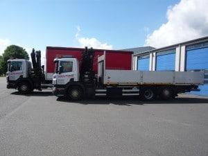 Camions grue baches et plateau
